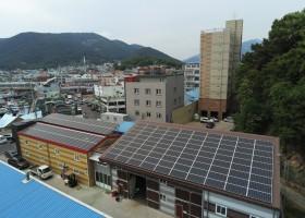 삼천포 오송태양광 발전소 약 70kw